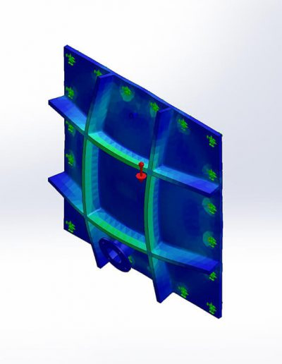 CAD render - Equivalent Strain Analysis